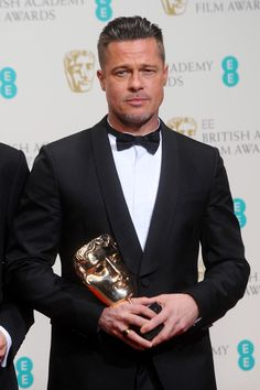 Brad Pitt - EE British Academy Film Awards 2014 - Winners Room