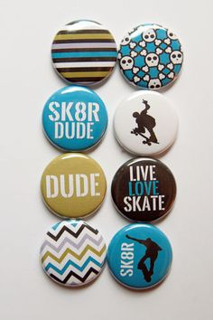 SK8TR Flair by aflairforbuttons on Etsy, $6.00  #aflairforbutton #flair