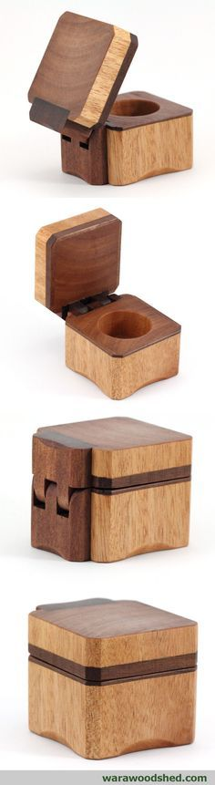Wooden ring box made from Queensland Maple and Jarrah. #warawoodshed