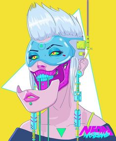 Artwork by Rob Shields / Neon_Wasteland Cyberpunk Aesthetic, Arte Cyberpunk, Cyberpunk 2077, Arte Grunge, Character Art, Character Design, Wallpaper Animes, Neon Wallpaper, Cyberpunk Character