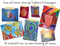 Free art lesson plans for toddlers to teenagers. At KinderArt.com, we make teaching art easier.