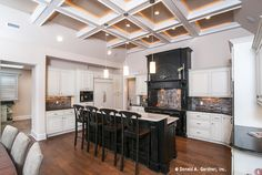 Guests can join you in the kitchen with seating at the island! The Sagecrest Plan 1226 http://www.dongardner.com/plan_details.aspx?pid=3676. #Island #Seating #Kitchen