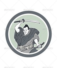 Realistic Graphic DOWNLOAD (.ai, .psd) :: http://vector-graphic.de/pinterest-itmid-1007525255i.html ... Samurai Warrior Wielding Katana Sword Circle ...  artwork, asian, circle, fighter, fighting, illustration, japanese, katana, male, man, retro, samurai, stance, sword, warrior, wielding  ... Realistic Photo Graphic Print Obejct Business Web Elements Illustration Design Templates ... DOWNLOAD :: http://vector-graphic.de/pinterest-itmid-1007525255i.html