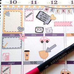 Organizing Stickers, Pastell, Fits Erin Condren, September, Kiss Cut, Life Planner Stickers, Scrapbook, Planner,Journaling