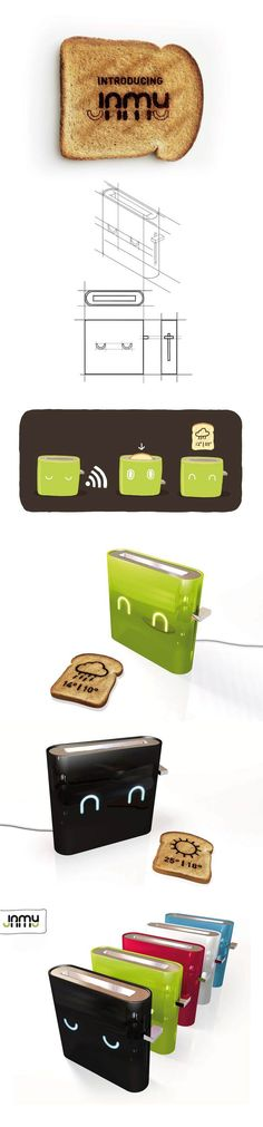 Smart Toaster - the weather forecast on your toasted bread :) #ingenius