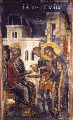 Pelatus-2 Byzantine Icons, Byzantine Art, Religious Paintings, Religious Art, Fresco, Church Icon, Orthodox Icons, Sacred Art, Renaissance Art