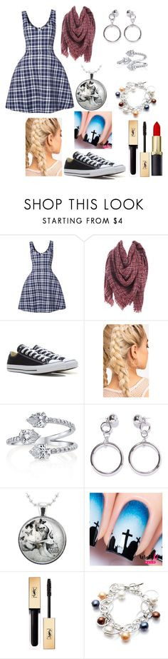 """""""Sin título #681"""" by karlarosales-1999 ❤ liked on Polyvore featuring Natasha Zinko, Converse, Ana Accessories, Yves Saint Laurent and Bellini"""
