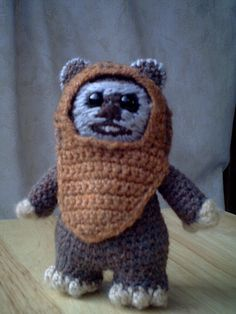 Crochet Ewok Clarissa would love this. Hmmm I may have to get Lissy to make me one.