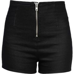 Love Moschino Denim Shorts ($108) ❤ liked on Polyvore featuring shorts, bottoms, pants, short, black, denim short shorts, black short shorts, high-waisted shorts, high rise shorts and short shorts