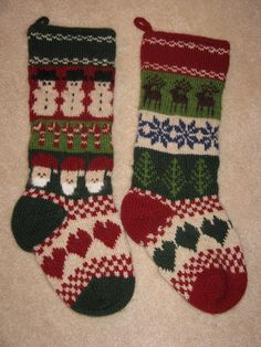 Knitting Socks Nordic Christmas Stockings Ideas For 2019 Knitted Christmas Stocking Patterns, Crochet Christmas Gifts, Knitted Christmas Stockings, Knit Stockings, Christmas Knitting, Fair Isle Knitting Patterns, Crochet Patterns, Nordic Christmas, Christmas Ideas