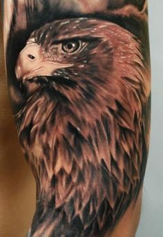 Arm Realistic Eagle Tattoo by Ron Russo