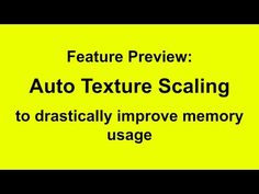 Blender Feature Preview: Auto texture scaling - BlenderNation