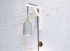 lámparas de concreto, que buena idea!