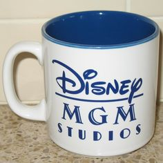 Disney MGM Studios Mickey and Minnie Mouse Coffee Mug Blue Japan | eBay