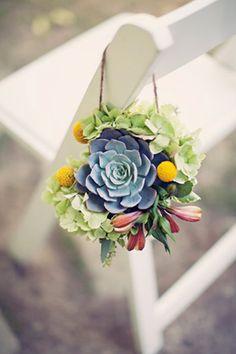 succulent wedding - brides of adelaide magazine - americana chairs