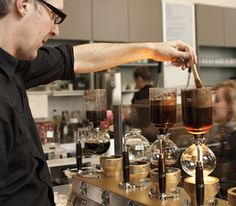 Coffee pro James Freeman offers his top siphon brewing tips. Photo by Frankie Frankeny.