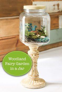 Woodland Fairy Garden in a Jar - Styled x3 - Pretty Handy Girl