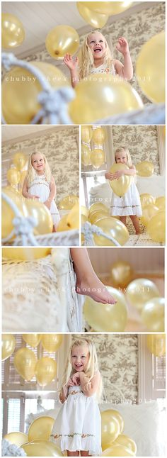 Balloon Photo-shoot.  Love this idea for a birthday!