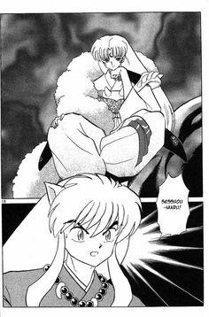 "Sesshoumau & InuYasha. I'm sorry, but Sesshomaru's ""Hello There"" look just makes me giggle."