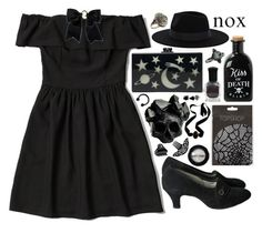 """""""Witchy"""" by blue999000 ❤ liked on Polyvore featuring Abercrombie & Fitch, Edie Parker, Macabre Gadgets, Manic Panic, Deborah Lippmann, Warehouse, Yves Saint Laurent, Cameo and H&M"""