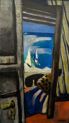 Max Beckmann - View of the Sea, 1928 - Museum Ludwig Cologne Germany Max Beckmann, Museum Ludwig, Ludwig Meidner, Carl Friedrich, Antoine Bourdelle, Modern Art, Contemporary Art, George Grosz, Degenerate Art