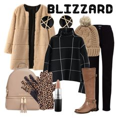 """Blizzard Bare"" by amanda-renee-kay ❤ liked on Polyvore featuring WithChic, Basler, Chicnova Fashion, Chicwish, MICHAEL Michael Kors, Frye, Isotoner, MAC Cosmetics, women's clothing and women's fashion"