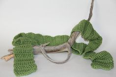 Scarf Green Crochet Scarf Winter Scarf. $25.00, via Etsy.