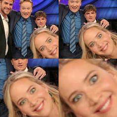Jennifer Lawrence, Josh Hutcherson, and Liam Hemsworth on Conan.