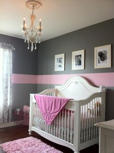 Charlees Pink and Gray Oasis with a Touch of Antique, When we started the room we knew we wanted colors and furniture that would grow with Charlee. I hope you enjoy the photos as much as we enjoy the room., Nurseries Design