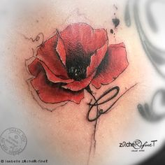 So happy about my second poppy, that I have done :) I can't wait to do more of that poppietattoos on Ramonas back :) ♥