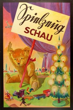 Toy Exhibition poster - Germany - 1920s Source: antikbar.co.uk