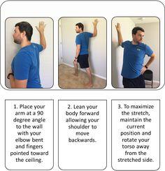 Manual Stretches for the Anterior Deltoid & Pectoralis ...  |Pectoralis Major Stretch