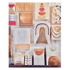 "301 Likes, 11 Comments - Lisa Ostapinski (@honeycombdaughter) on Instagram: ""Paintings paintings paintings #encaustic #encausticart #gold #goldleaf #textileart #studiowall…"""