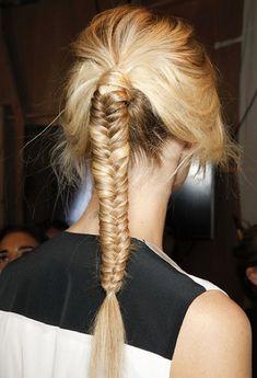 Fishtail Braid Ponytail #hair #blonde #backstage #beauty