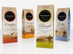 "SeriesNemo designed this ""Walk around the World"" series for Marabans Coffee & Tea."
