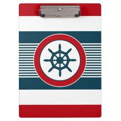 Nautical design clipboard - stripes gifts cyo unique style