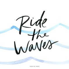 FREEBIE // Ride the waves of life! Free desktop and phone wallpaper - creative index blog