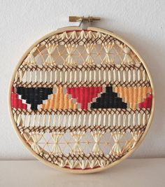 Weaving in an embroidery hoop