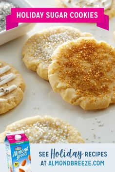 Wow your guests with this easy recipe for dairy free holiday sugar cookies and let the fun begin when it comes time to decorating. Köstliche Desserts, Holiday Baking, Christmas Desserts, Christmas Baking, Delicious Desserts, Dessert Recipes, Christmas Cookies, Christmas Nails, Yummy Cookies