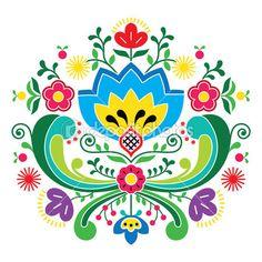 Arte folklórico noruego bunad patrón - bordado estilo rosemaling — Ilustración de stock #47204593