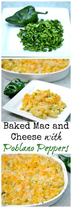 Traditional comfort food with a kick! Smoky poblano peppers take mac and cheese to a whole new level.