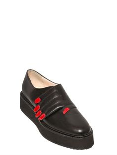 30MM HANDS LEATHER MONK STRAP SHOES, Vivetta