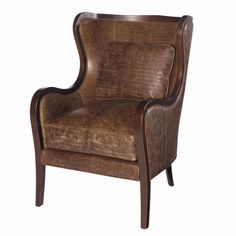 Lexington Leather Dakota Chair with Attached Back by Lexington Home Brands - Becker Furniture World - Wing Chair Twin Cities, Minneapolis, St. Paul, Minnesota