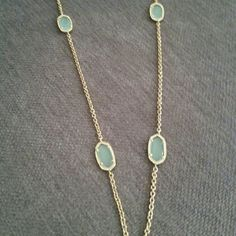 'Kelsie' Station Necklace Gold and Chalcedony Kelsie Station Necklace is new and never worn.  Lobster clasp closure.18k-gold.By Kendra Scott; imported.  No trades or off site selling. Kendra Scott Jewelry Necklaces