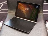 The new hybrid skips the traditional keyboard in favor of a touchscreen digital…