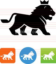 Lion With Crown Icon