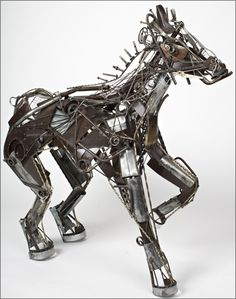 Recycled Metal Animal Sculpture