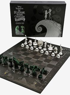 The Nightmare Before Christmas Anniversary Chess SetThe Nightmare Before Christmas Anniversary Chess Set Nightmare Before Christmas Decorations, The Nightmare Before Christmas, Friends Trivia, Oogie Boogie, Jack And Sally, Family Game Night, 25th Anniversary, Anniversary Ideas, Jack Skellington