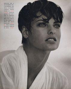 Linda Evangelista, Vogue Italy 1990 #90s supermodels