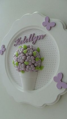 Cute Crafts, Crafts To Make, Diy Crafts, Polymer Clay Recipe, Cuadros Diy, Felt Wreath, Paper Flower Backdrop, Letter A Crafts, Country Crafts